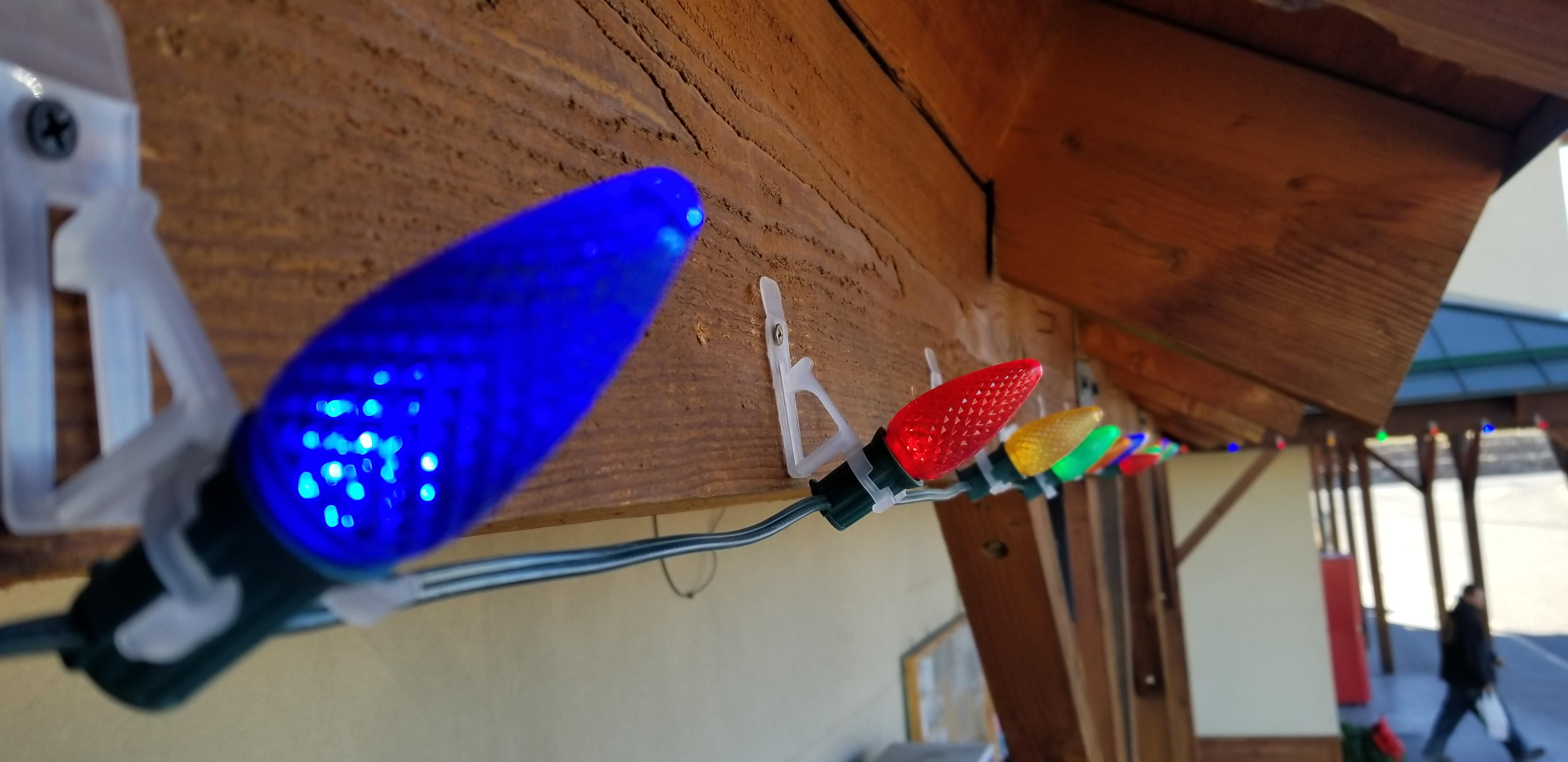 Installing Christmas Lights