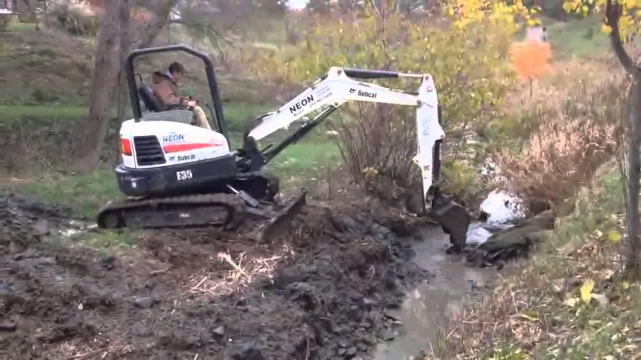 Mini Excavators | S&E Wards Landscape Management