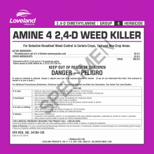 Picture of Amine 4 2,4-D Weed Killer Label