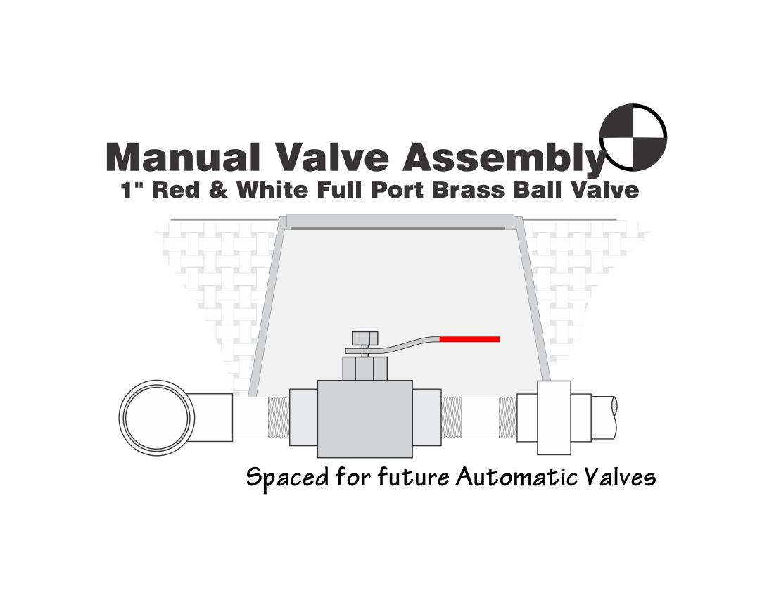 Detail Drawing of a Manual Brass Ball Valve Assembly