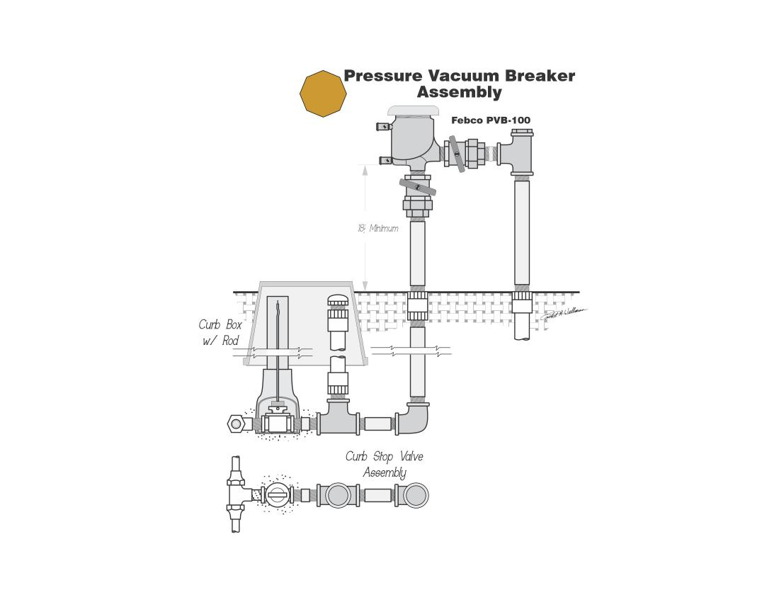 Febco Pressure Vacuum Breaker Assembly Detail Drawing