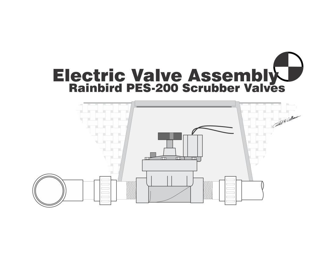 Detail Drawing of a Rain Bird 200-PESB Electric Scrubber Valve