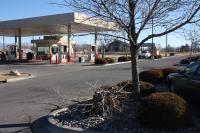 Picture of gas station while we prune trees at Safeway